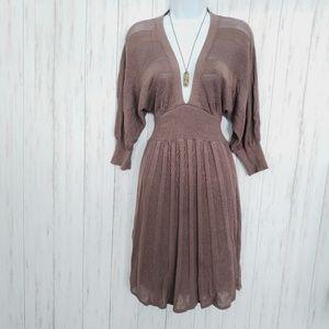 Bebe Silk Knit Dress, Midi Length Bebe Dress Small